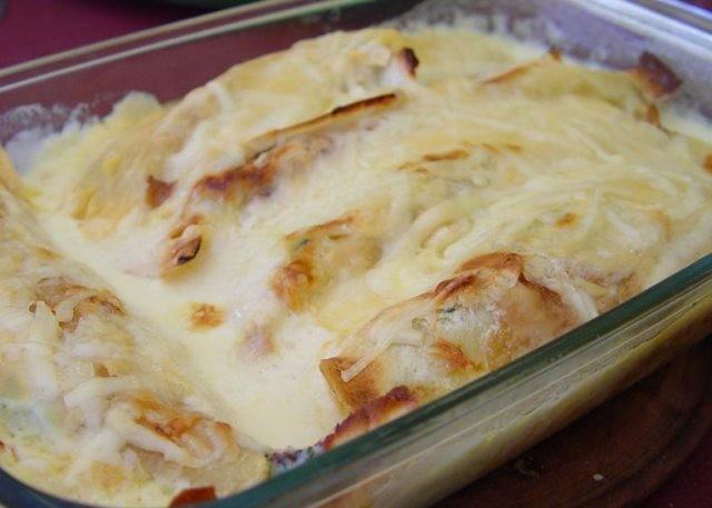 Pechuga de pollo con receta de queso de cabra