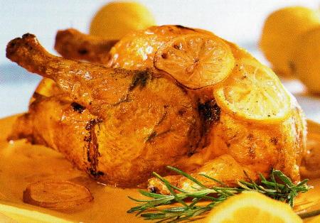 Recetas de cocina faciles para estudiantes pollo asado al for Pato a la naranja al horno
