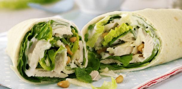 Recetas De Cocina Faciles Para Estudiantes Wrap De Pollo Y Ensalada